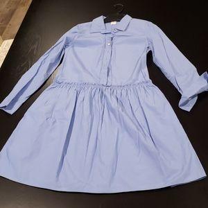 EUC! Jcrew drop waist poplin dress 2